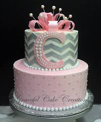 pink and gray baby shower pink and gray chevron baby shower cake grace tari flickr