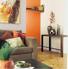 chambre orange et marron associer la peinture orange dans salon cuisine et chambre