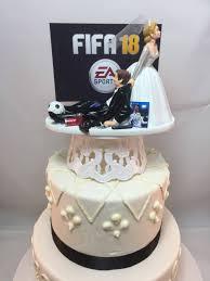 gamer wedding cake topper wedding cake topper fifa 18 gamer gaming junkie soccer