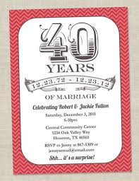 40th anniversary ideas 40th anniversary template invitation orderecigsjuice info