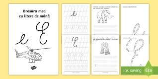 si e de scrierea literelor e și e de mână broșură cu