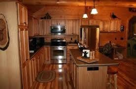 hickory kitchen cabinet hardware log kitchen cabinets hickory cabinets in a golden eagle log home log