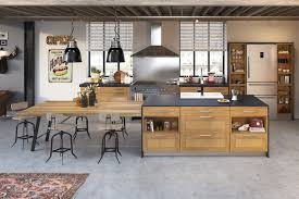 cuisine ouverte sur s our modele de cuisine ouverte sur salle a manger maison design bahbe com