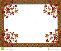 thanksgiving clip art border thanksgiving autumn fall leaves border stock image image 10940471