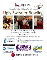 kw reno ugly christmas sweater bowling party tickets fri dec 2