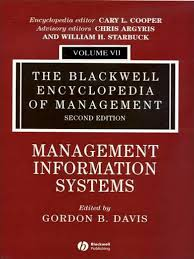 gordon b davis the blackwell encyclopedia of management