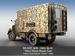 opel blitz interior opel blitz 3t truck with radiokoffer 3d model cgtrader