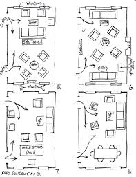 good arrangement of living room furniture layout in small space by