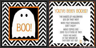 Halloween Ghost Poem It U0027s Written On The Wall 16 Versions You U0027ve Been Booed Fun