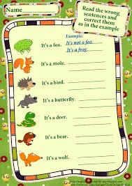 forest animals worksheets