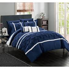 Home Design Down Alternative King Comforter by Chic Home Edney Bed In A Bag Navy Comforter 10 Piece Set By Chic