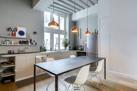 parisian kitchen design fresh and modern small apartment in the heart of marais in paris