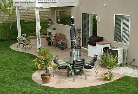 Ideas For Backyard Patios by Small Patio Ideas On A Budget With Pergola And Dining Furniture