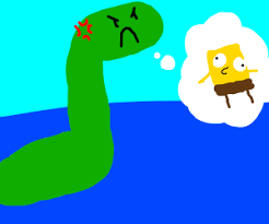 Loch Ness Monster Meme - loch ness monster annoyed by spongebob memes drawing by derphaven
