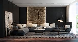 idee deco salon canape noir séjour moderne en 25 nouveaux exemples inspirants