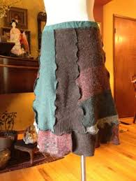 Upcycled Sweater Skirt - upcycled recycled refashioned sweaters made into a skirt my
