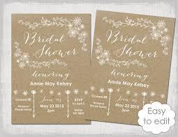 Words For Bridal Shower Invitation Bridal Shower Invitation Template Rustic Printable Templates Diy