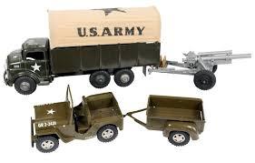 army jeep toys 2 marx us army truck w canvas top u0026 plastic cannon