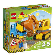 lego duplo truck and tracked excavator 10812 toys