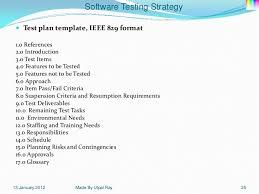 ieee 829 standard test summary report template ieee standard 829