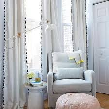 Yellow Nursery Curtains Pom Pom Nursery Curtains Design Ideas