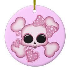 pink skull christmas tree decorations u0026 ornaments zazzle co uk
