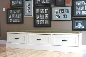 Black Storage Bench Banquette Storage Bench With Drawers