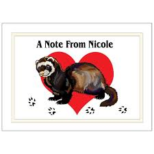 ferret love personalized note cards u2013 mandys moon personalized gifts