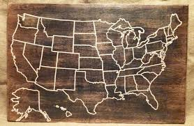 States Map Of Usa by Travel Map Us Wood Map Usa Travel Map Personalized Pin