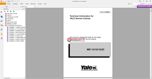 yale richtruck mr 16 h b849 service manual auto repair manual