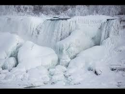 frozen niagara falls rare creation artist polar vortex