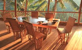 Bamboo Dining Room Chairs I Love The View Too Bamboo Dining Set At Green Village