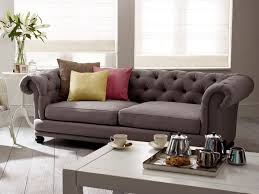 chesterfield sofa in fabric cara upholstered sofa living it up