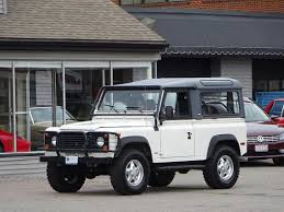 white land rover defender 1997 land rover defender 90 soft top copley motorcars