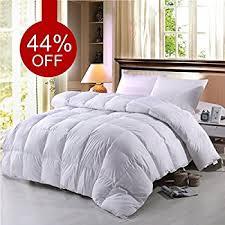 Can I Bleach A Down Comforter Amazon Com Super Soft Goose Down Comforter 100 Cotton Down Proof