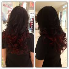 Dark Hair Colors And Styles Dark Brown With Cherry Red Tips Hair Pinterest Dark Brown