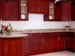 stainless steel backsplash with cherry cabinets cherry kitchen