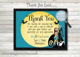 nightmare before wedding thank you card nightmare