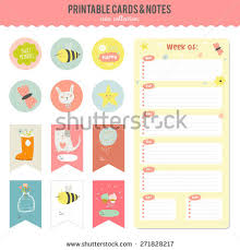 romantic love cards notes stickers labels stock vector 271828214