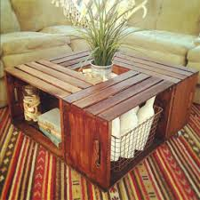 How To Make Wine Crate Coffee Table - 10 creative diy coffee tables crates and coffee
