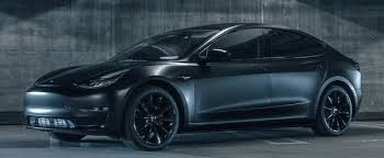 satin black tesla model 3 looks like it could in the entire