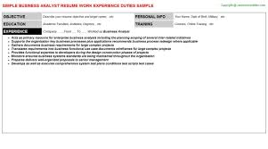 Senior Business Analyst Resume Resume Examples Business Resumes Templates Senior Within 25