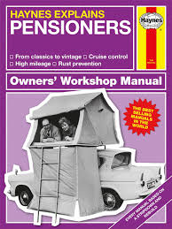 haynes explains pensioners book humorous novelty parody gift