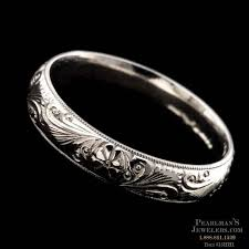 charles green wedding rings charles green jewelry 18kt white grave engraved scroll