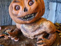 Scary Cakes For Halloween A Pumpkin Monster Birthday Cake Cakecentral Com