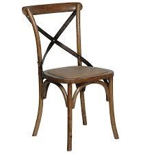 Cross Back Dining Chairs Cross Back Dining Chair Classic Bistro Furniture 115 00