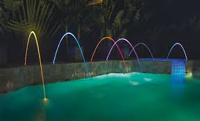 intellibrite landscape lights magicstream laminars pool and spa water features pentair