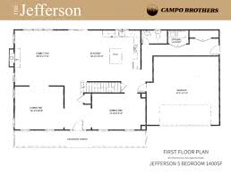 Jefferson Floor Plan by Floor Plans Campo Brothers
