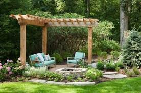 Pergola Garden Ideas Corner Pergola Add Removable Hammock Pergola Ideas