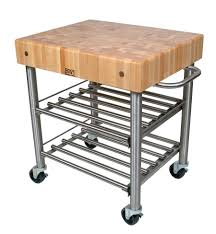 john boos cucina d u0027amico butcher block wine cart
